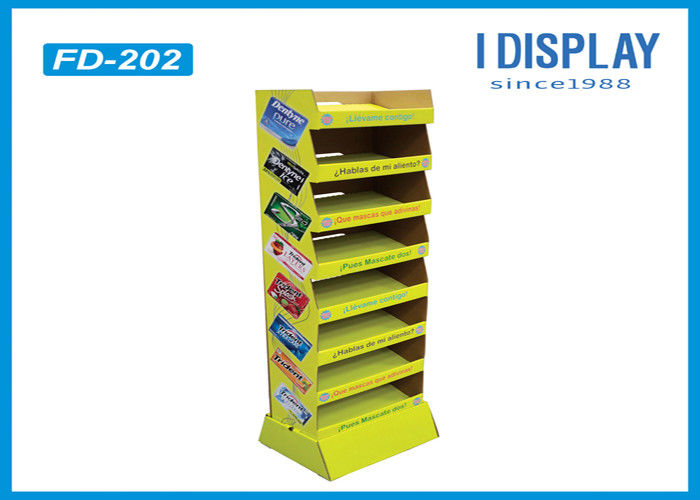 Adjustable Retail Cardboard Displays , 8 Tiers Custom Cardboard Stands Display