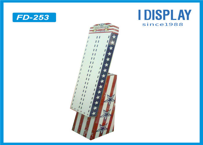 White Custom Cardboard Pop Displays / Sunglasses Cardboard Store Displays
